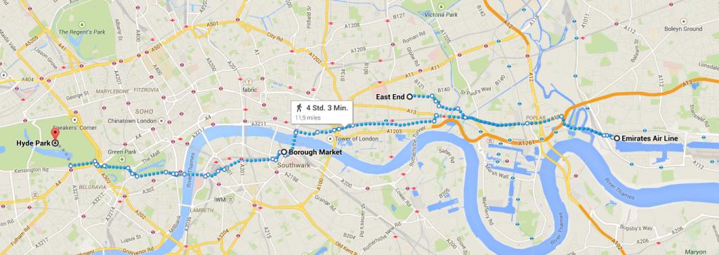 LondonplanungMontagTubeBusCableBoat