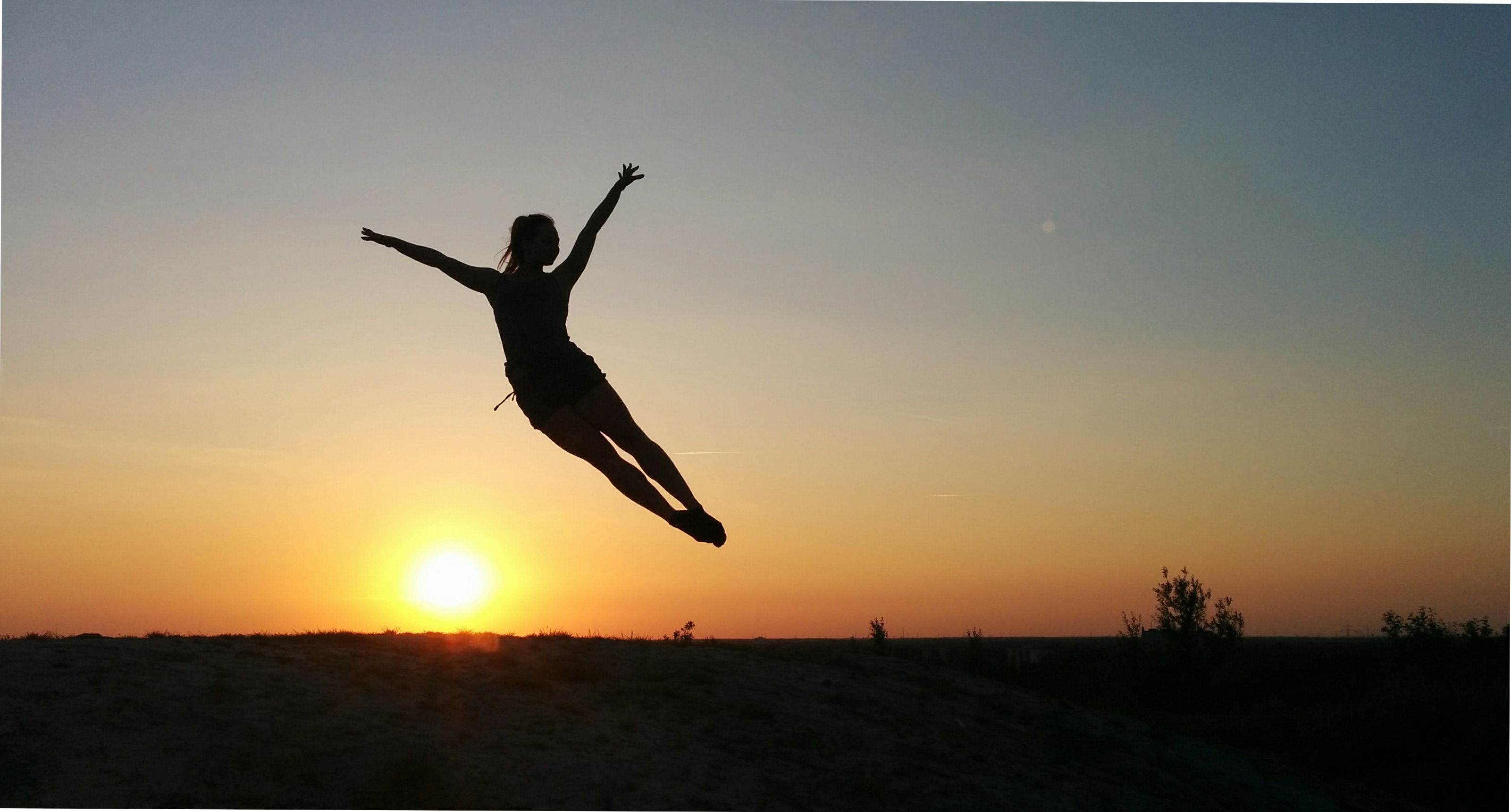 Dancing in the sunset.
